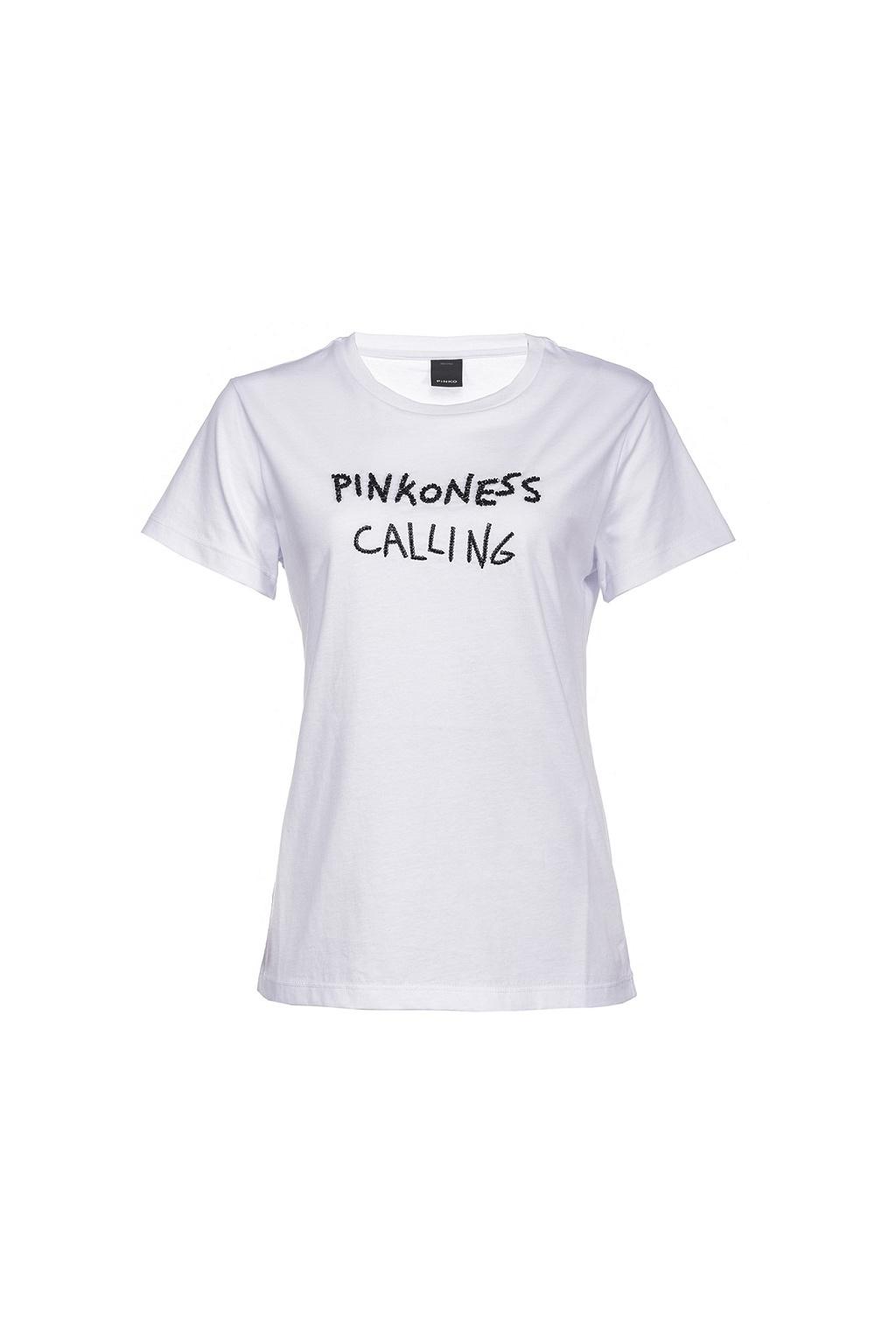 1G15YWY5BD ZZ1 Dámské tričko Pinko Effimero bílé