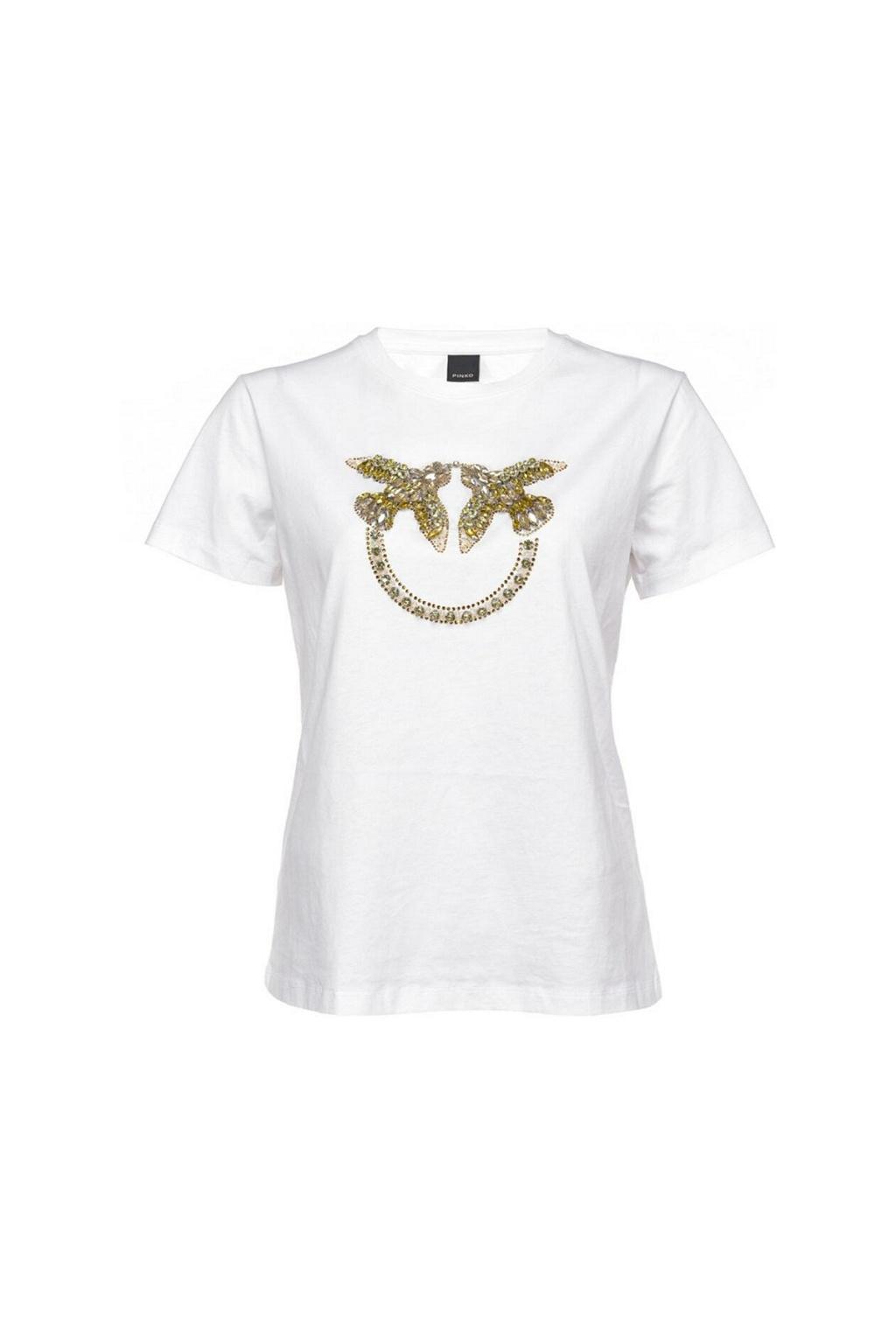 1G1610 Y4LX LZC Dámské tričko Pinko Quentin bílé