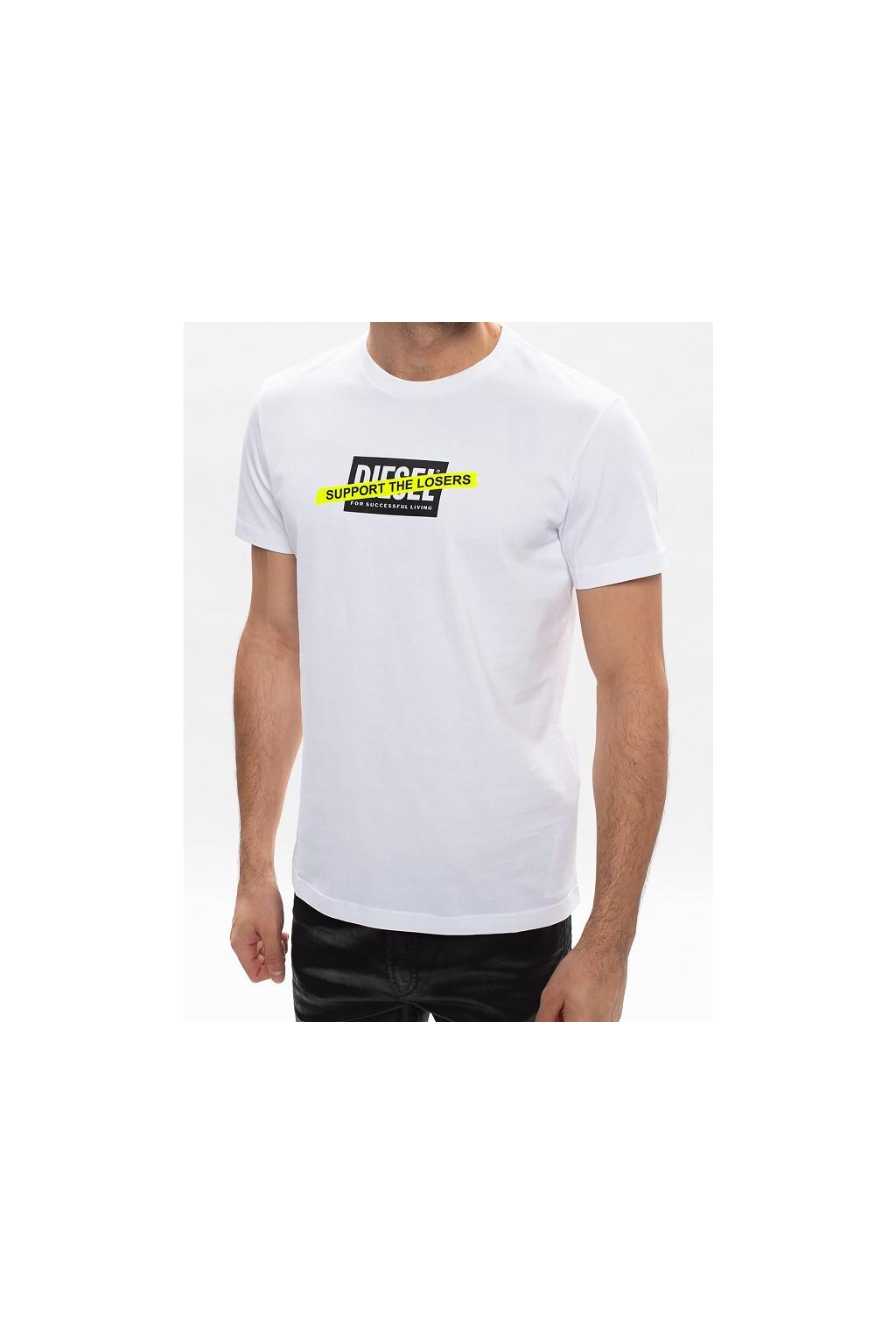 A01769 0HAYU 100 Pánské tričko Diesel T Diegos A3 bílé