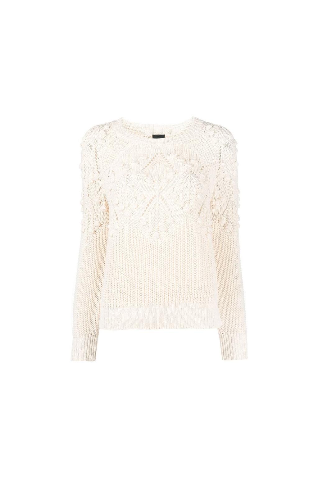 1G1601 Y71Z Z15 Dámský svetr Pinko Ingaggio bílý