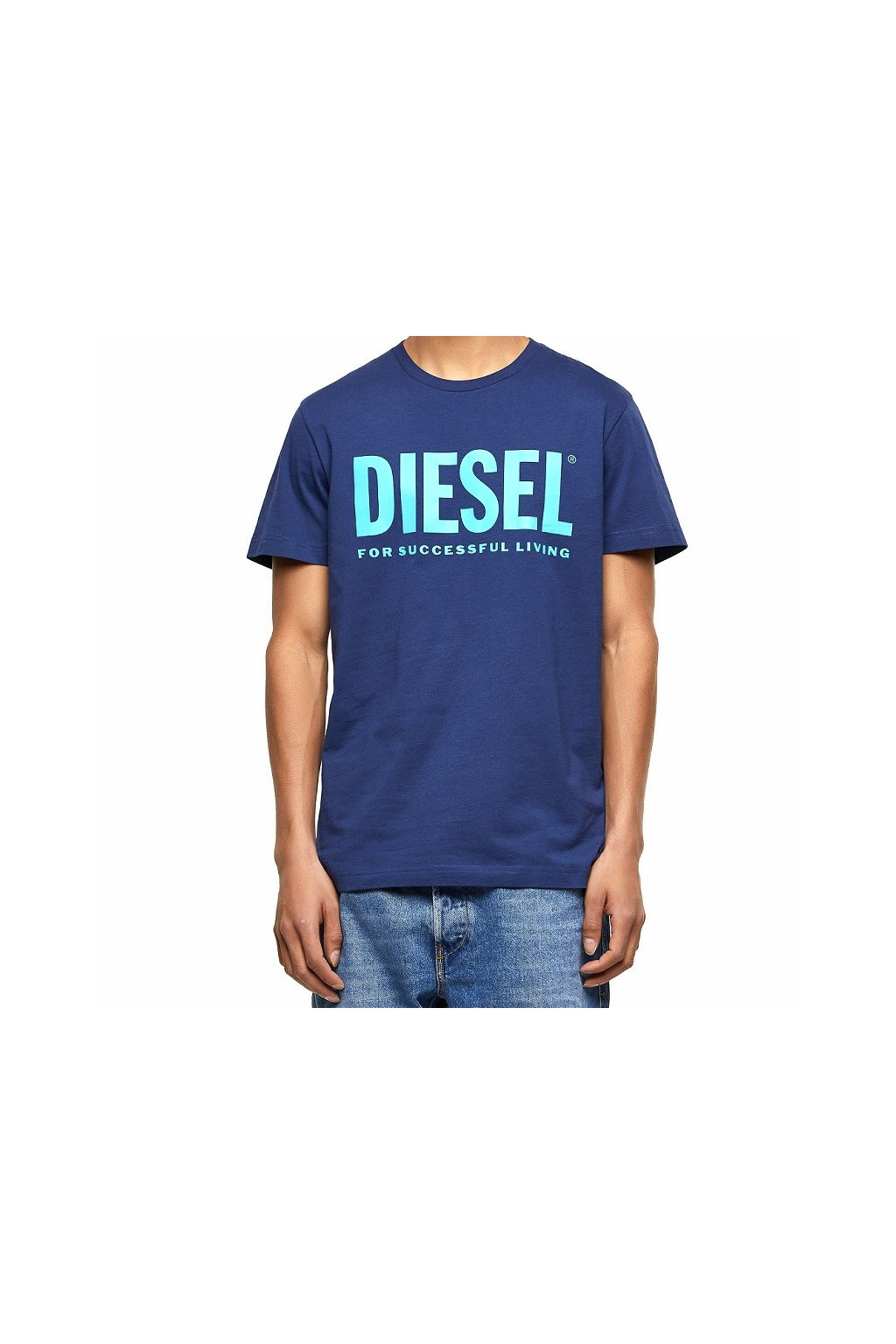 00SXED 0AAXJ 8MG Pánské tričko Diesel T Diego Logo modré