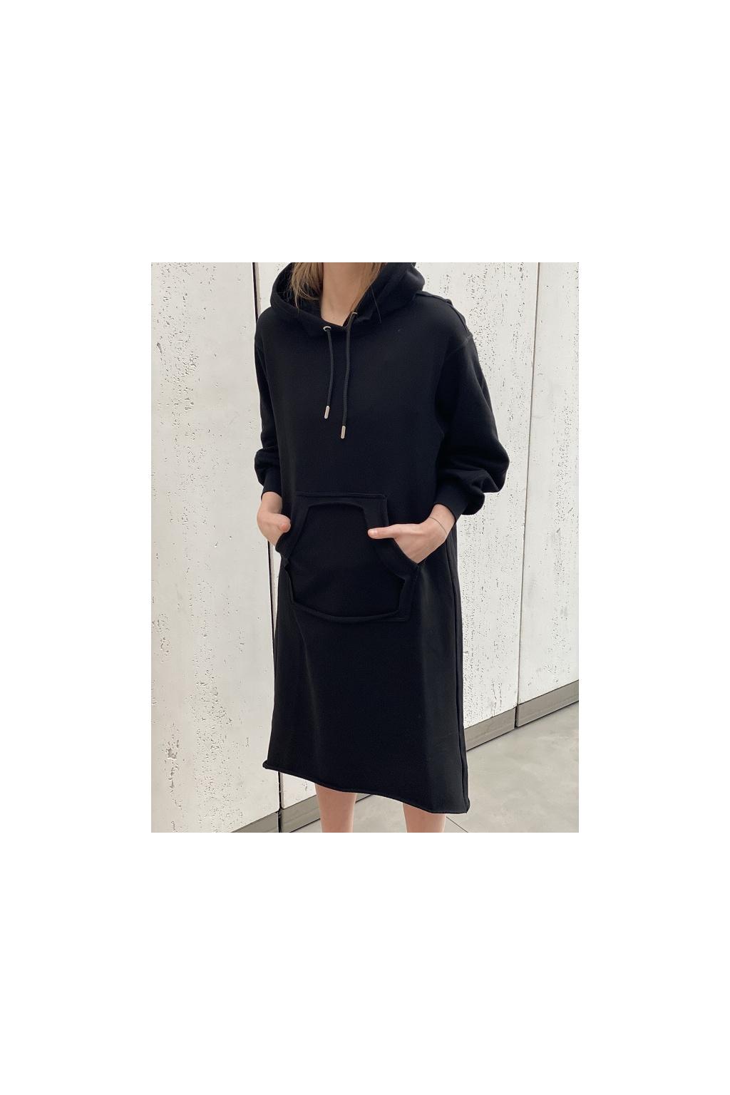 A04457 0IAJH 9XX Dámské šaty Diesel D Ilse Twist Raw Copy černé