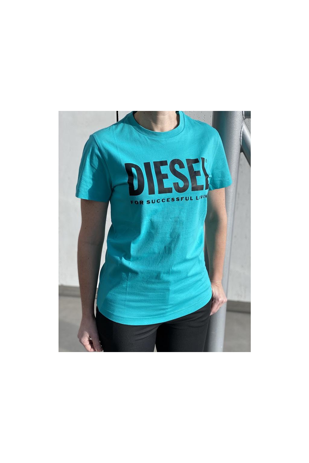 00SXED 0AAXJ5II Dámské tričko Diesel T Diego Logo zelené