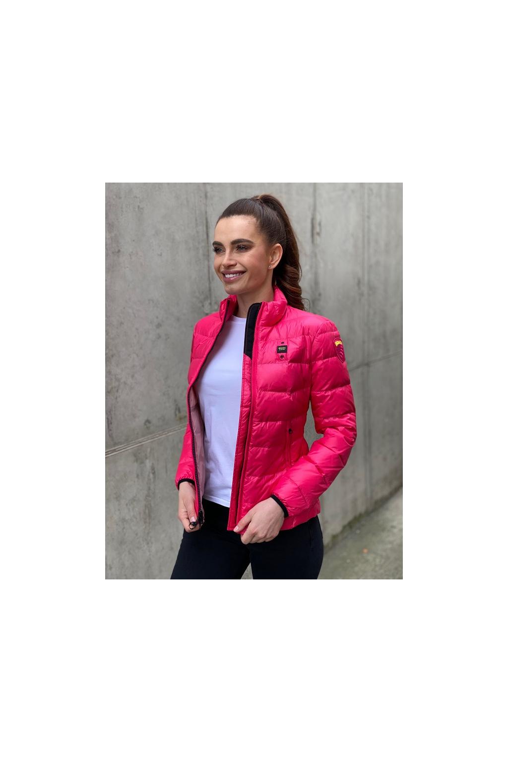 Dámská péřová bunda Blauer 21SBLDC03022 růžová