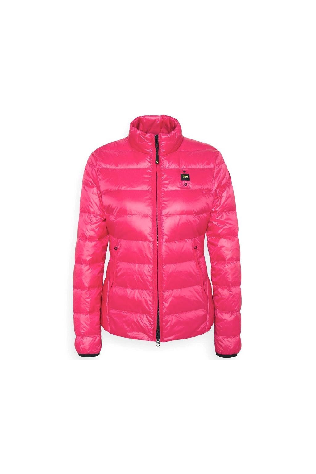 21SBLDC03022 534 Dámská péřová bunda Blauer růžová