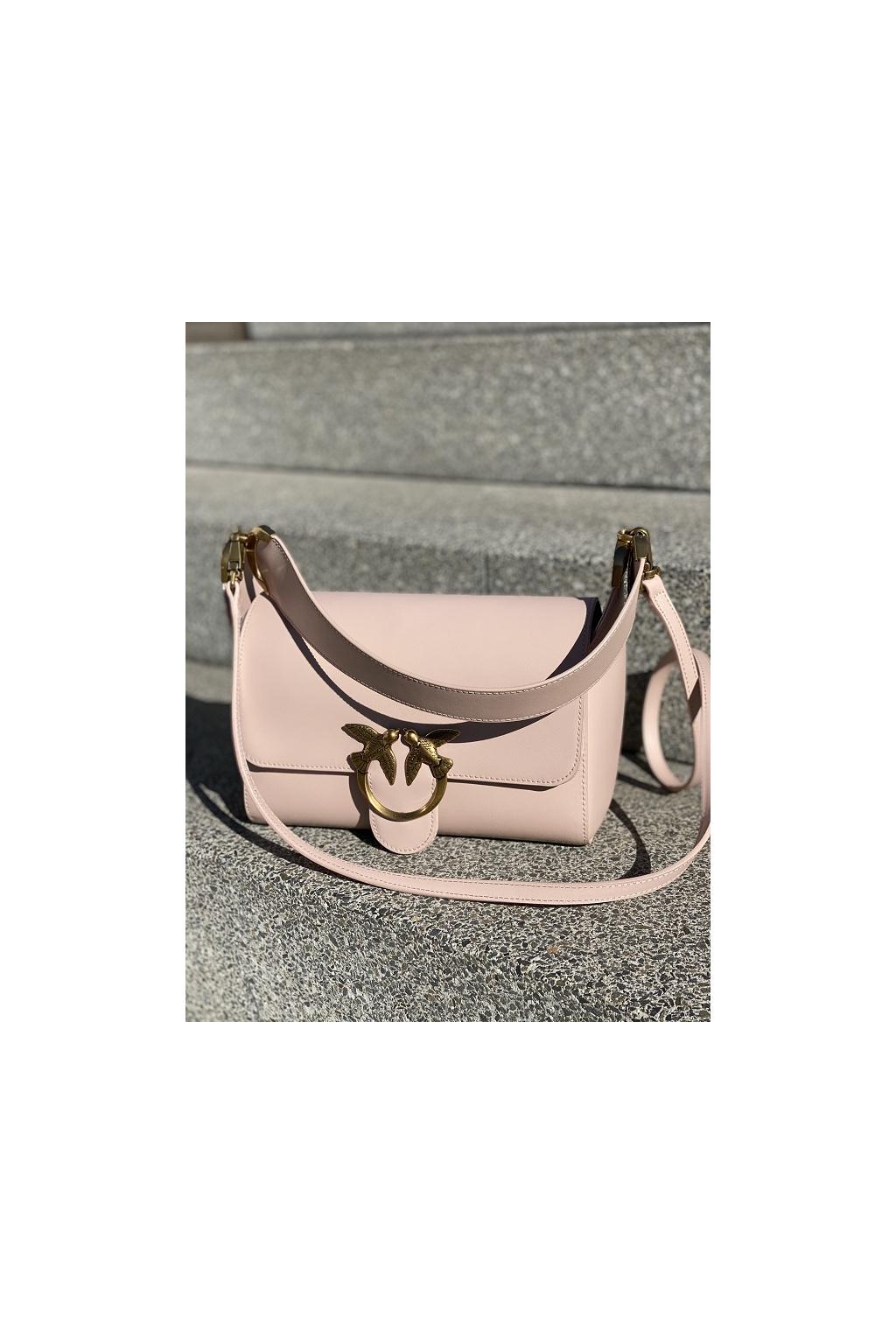 Dámská kabelka Pinko Love Shoulder Simply béžová