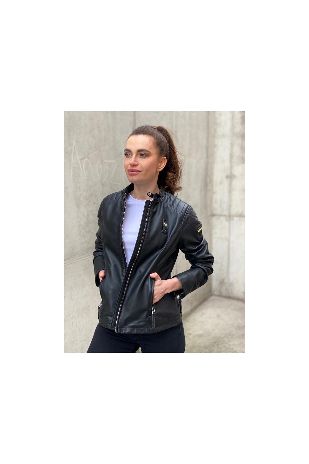 Dámská kožená bunda Blauer 21SBLDL02288 černá 1