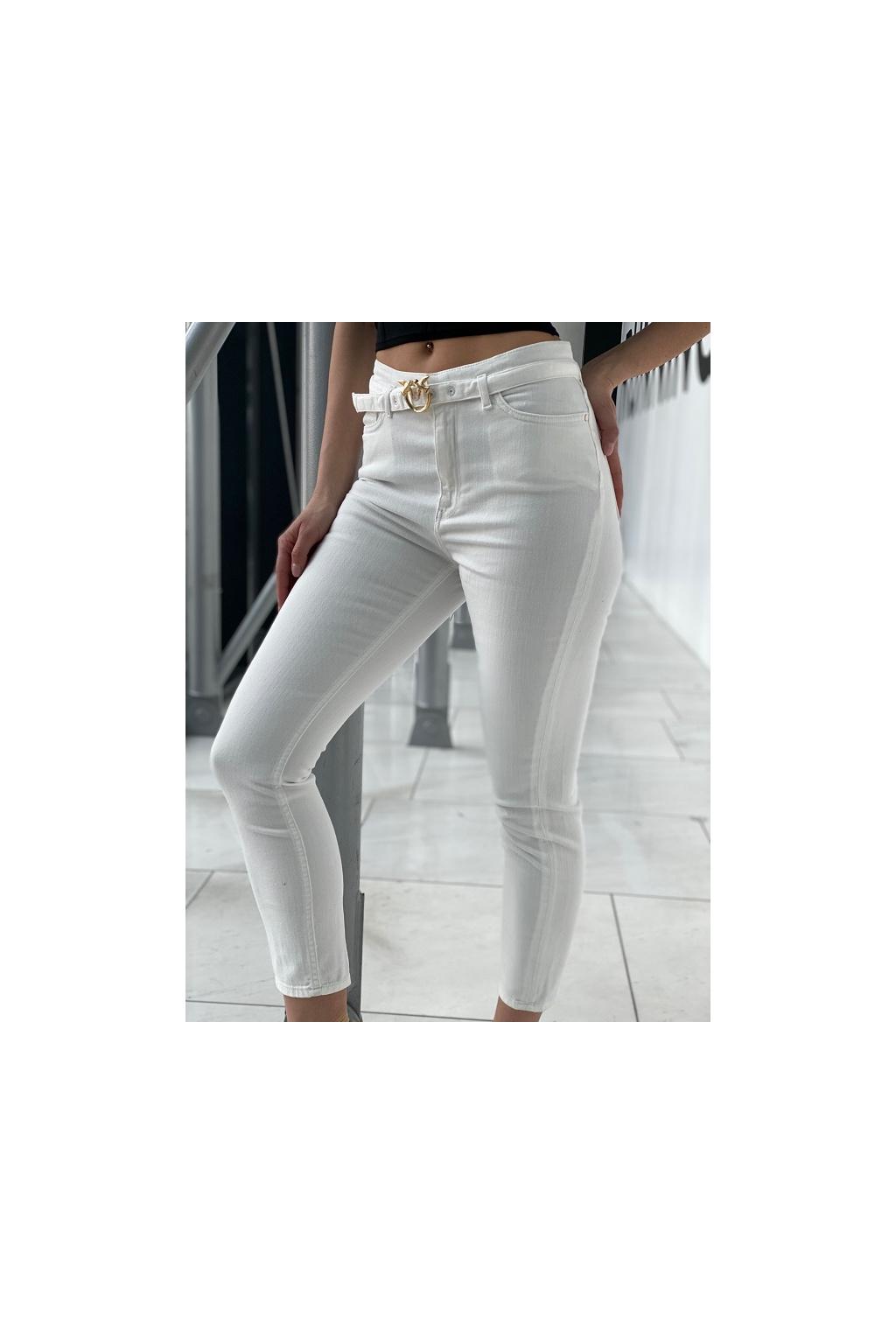 Dámské džíny Pinko Susan 13 Skinny PJ385C bílé