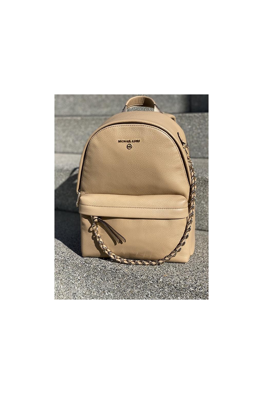 Dámský batoh Michael Kors Slater Medium Backpack Leather 30T0L04B1L hnědý