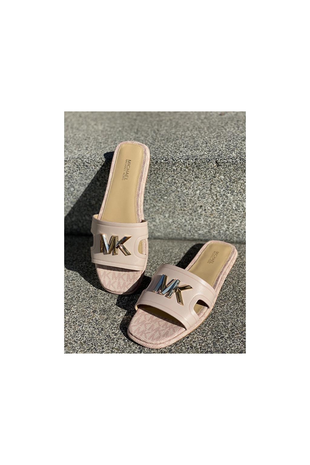 Dámské sandály Michael Kors Kippy Leather Slide růžové