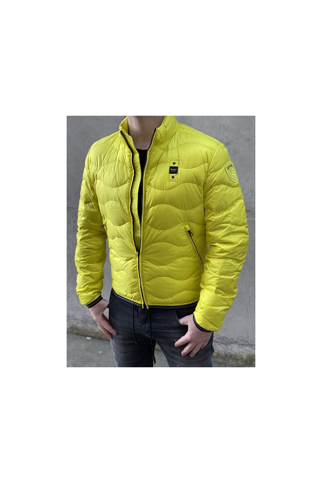 Pánská bunda Blauer 21SBLUC03031 žlutá