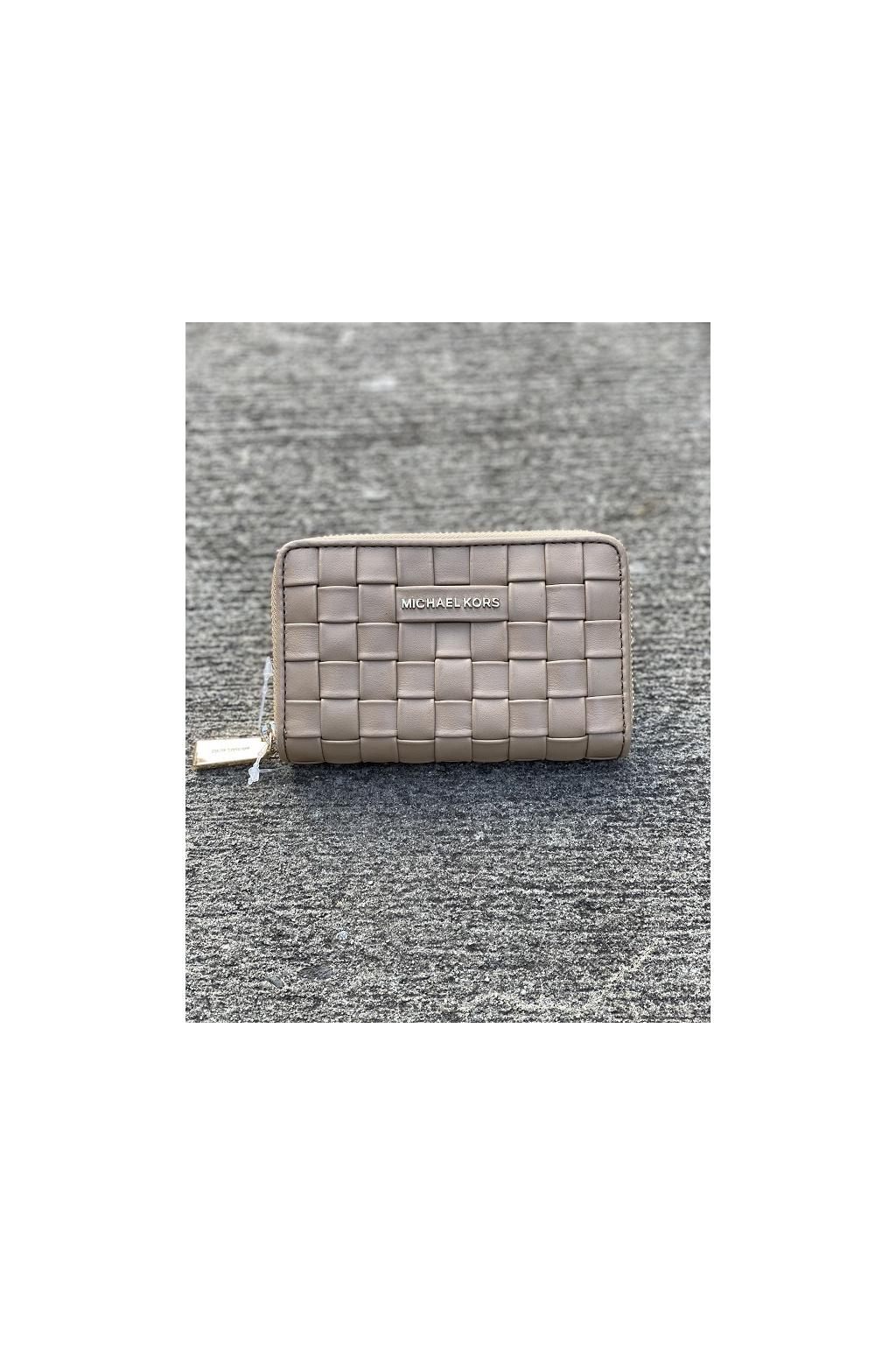 Dámská peněženka Michael Kors Jet Set Small Leather béžová