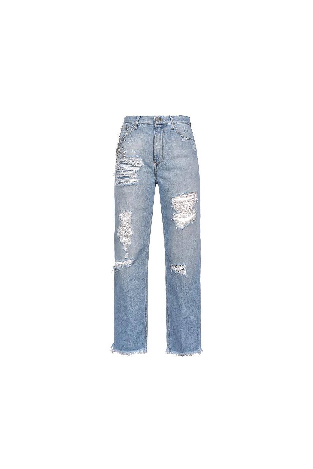 Dámské džíny Pinko Maddie 16 Mom PJ396A modré