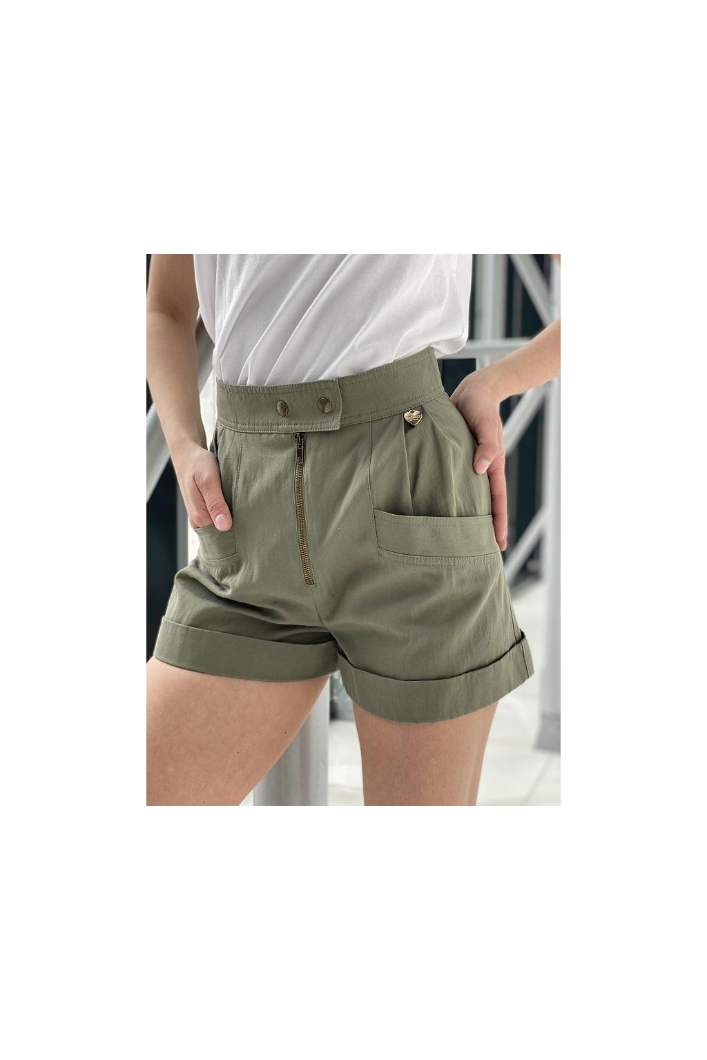 Dámské šortky Twinset 211TT2073 zelené