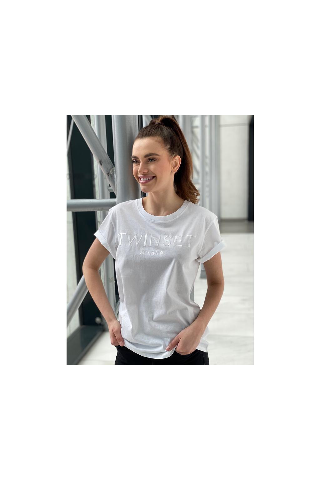 Dámské tričko Twinset 211TT2230 bílé