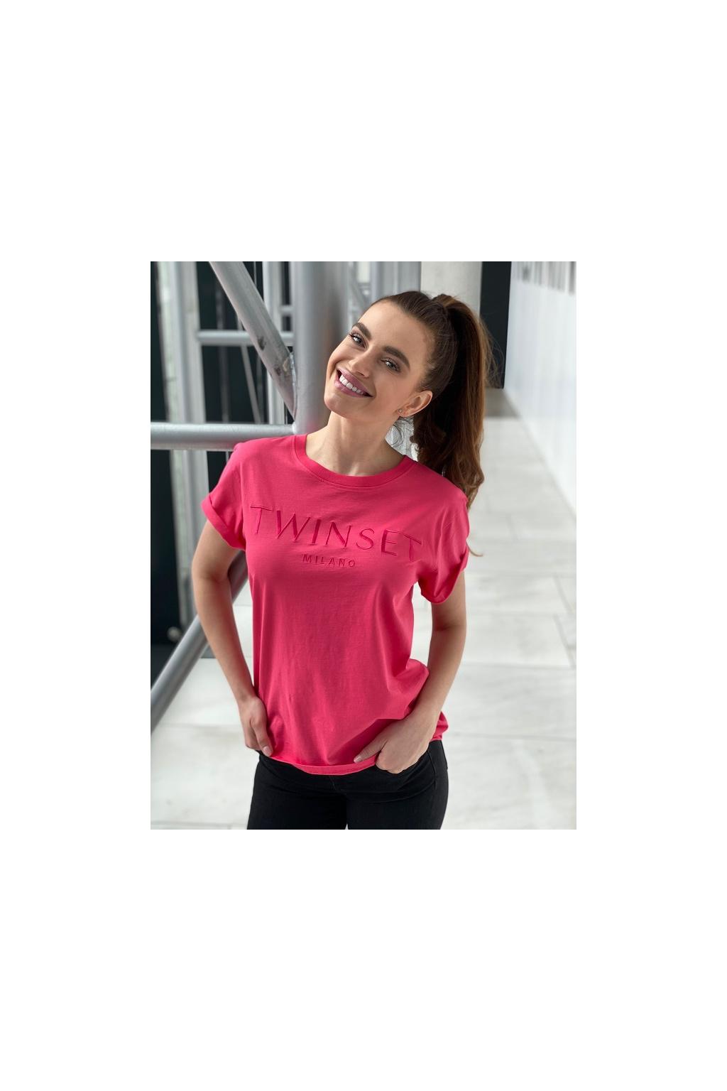 Dámské tričko Twinset 211TT2230 růžové