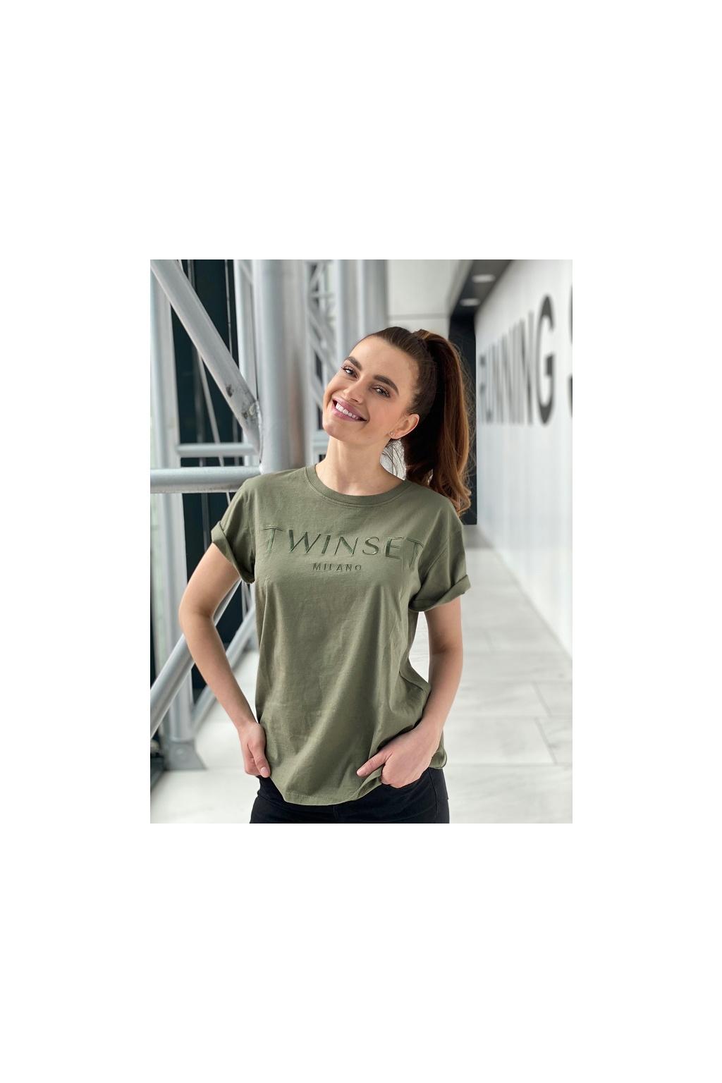 Dámské tričko Twinset 211TT2230 zelené