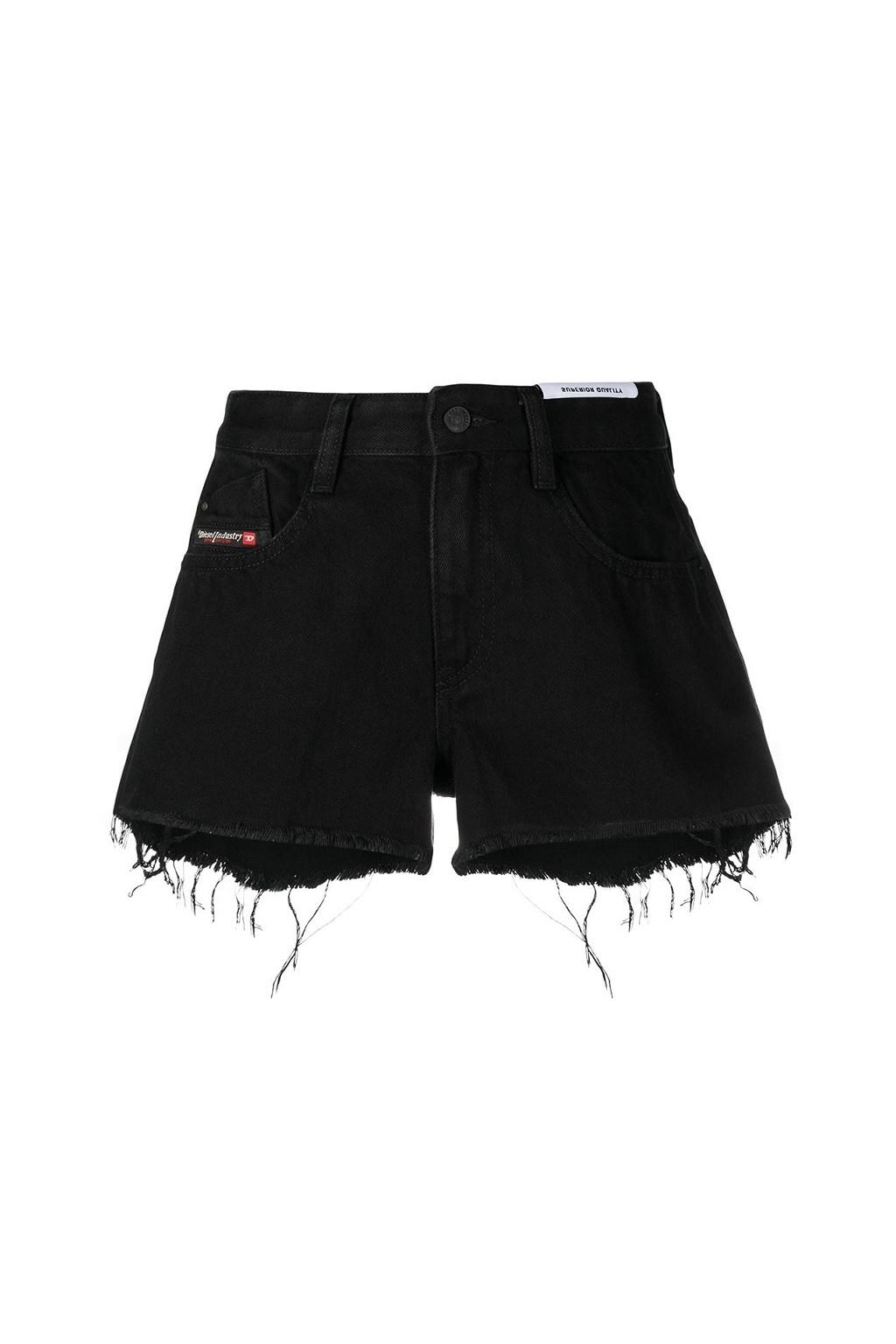 Dámské šortky Diesel De Rifty Shorts černé