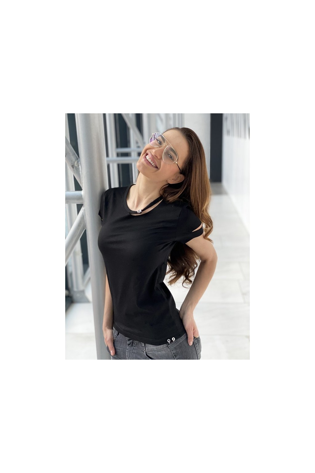 Dámské tričko Diesel T Bullock černé 1