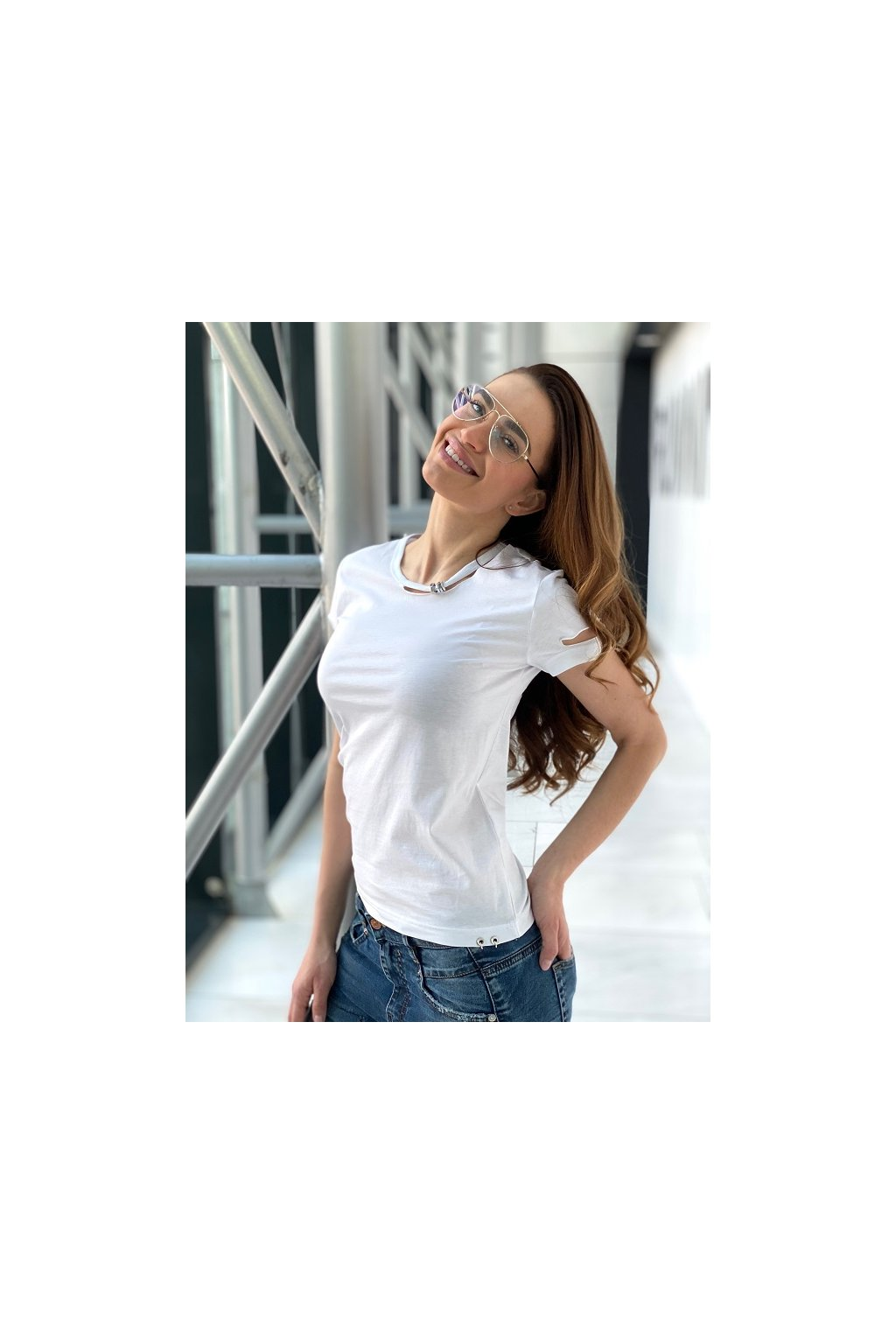 Dámské tričko Diesel T Bullock bílé