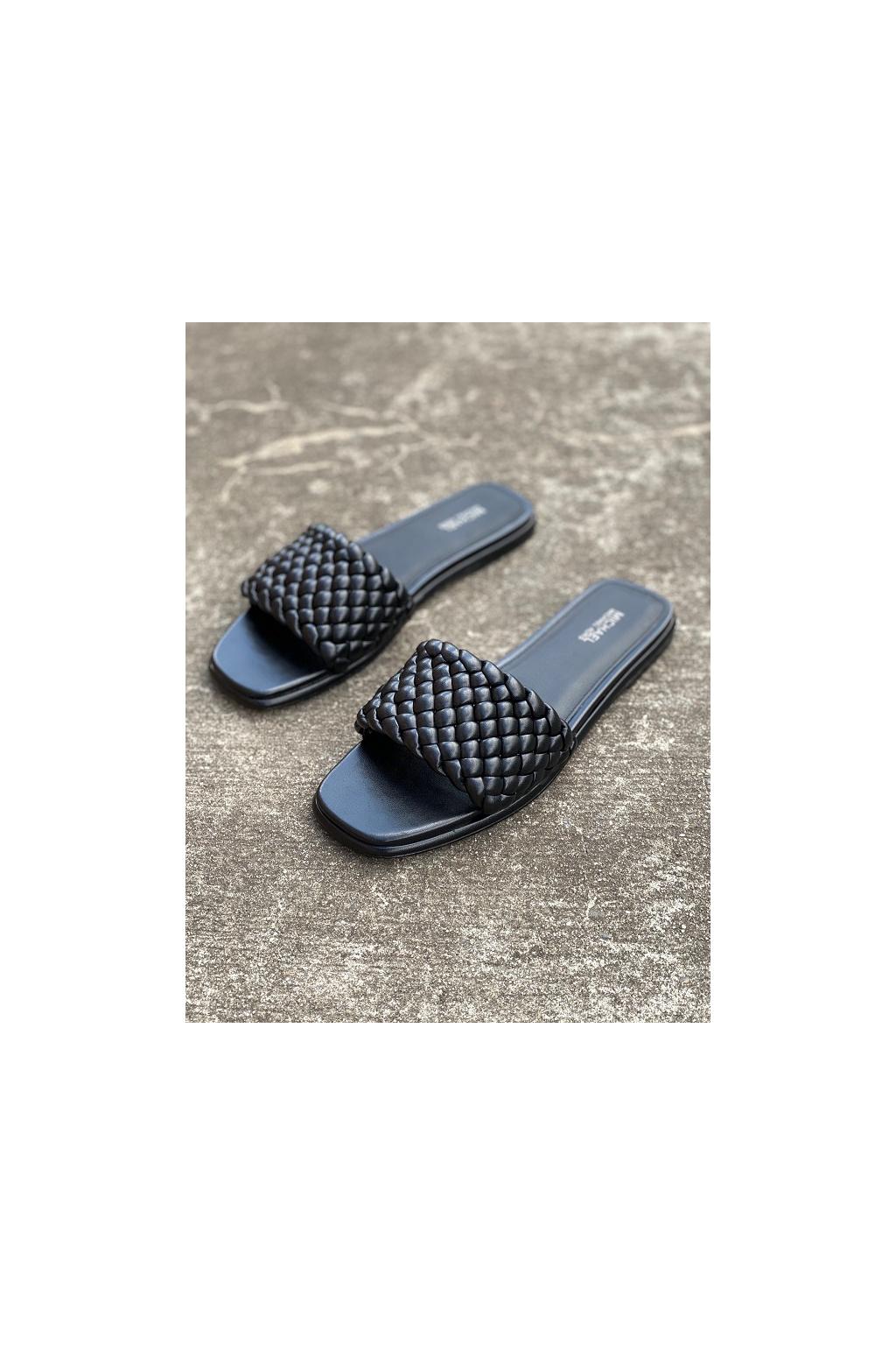 Dámské sandály Michael Kors Amelia Nappa Faux Leather černé