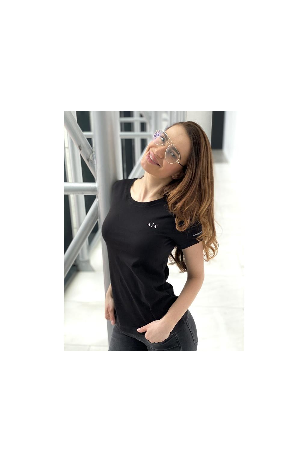 Dámské tričko Armani Exchange 3KYTHN YJ3RZ černé