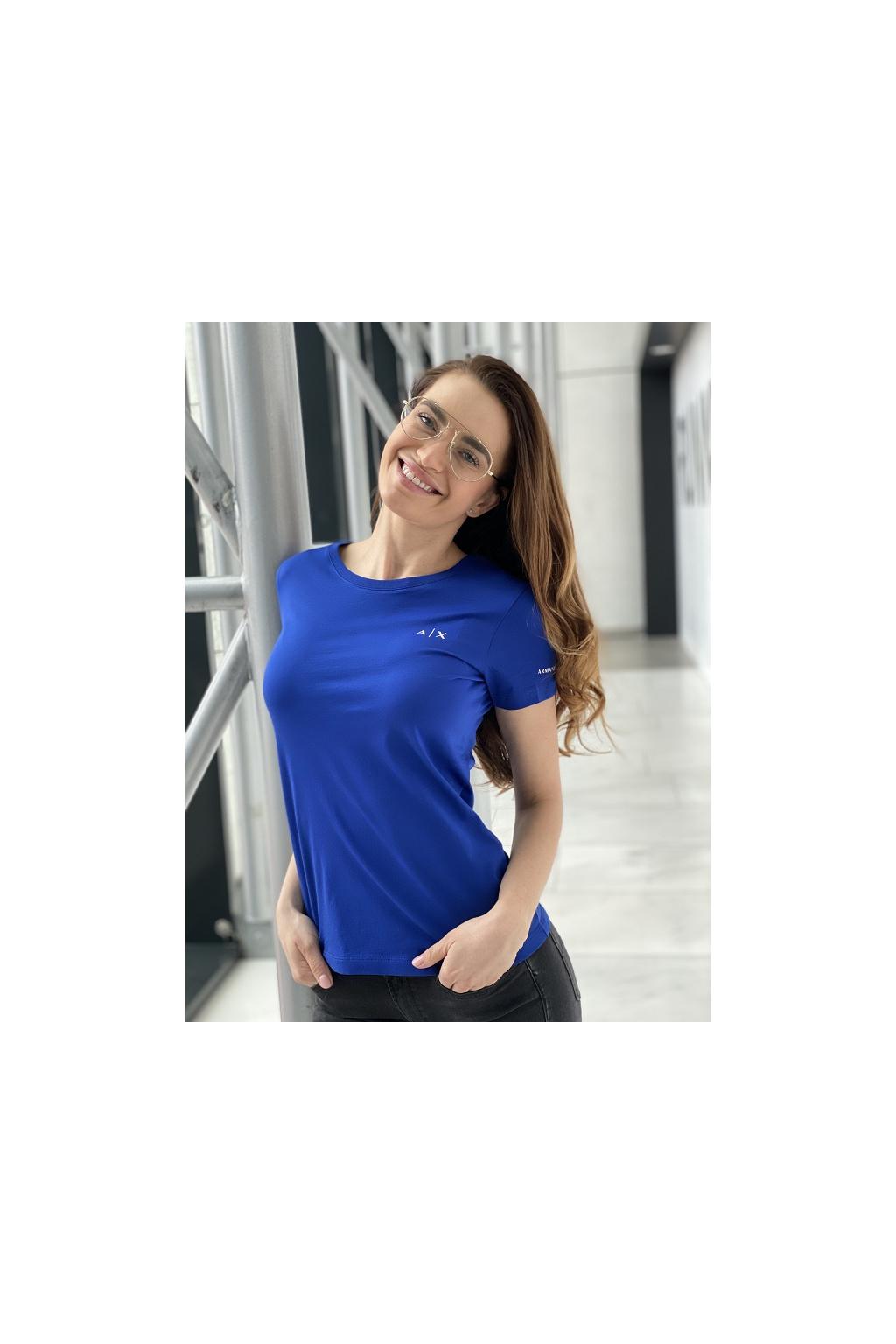 Dámské tričko Armani Exchange 3KYTHN YJ3RZ modré