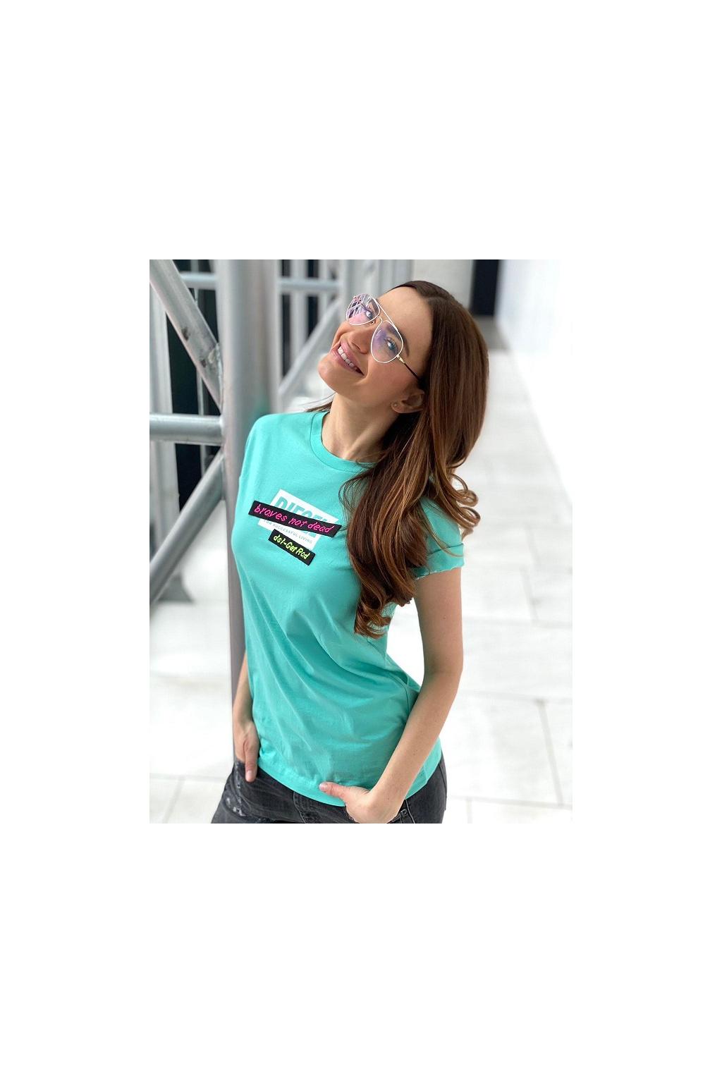 Dámské tričko Diesel T Daria R2 modrá