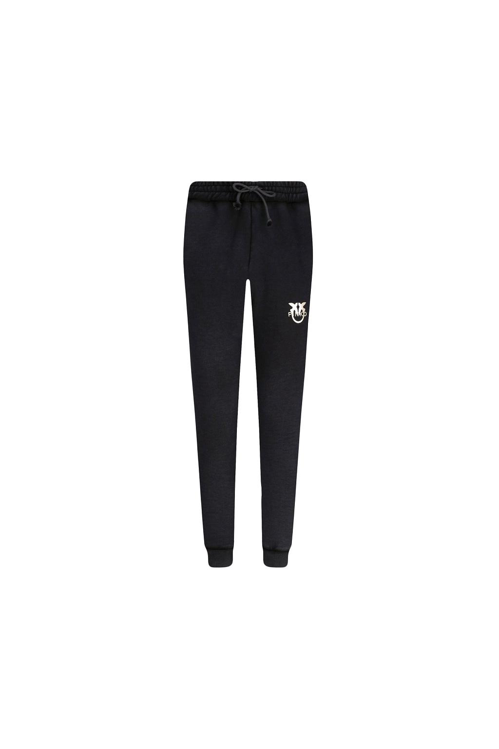 Dámské kalhoty Pinko Carico černo zlaté