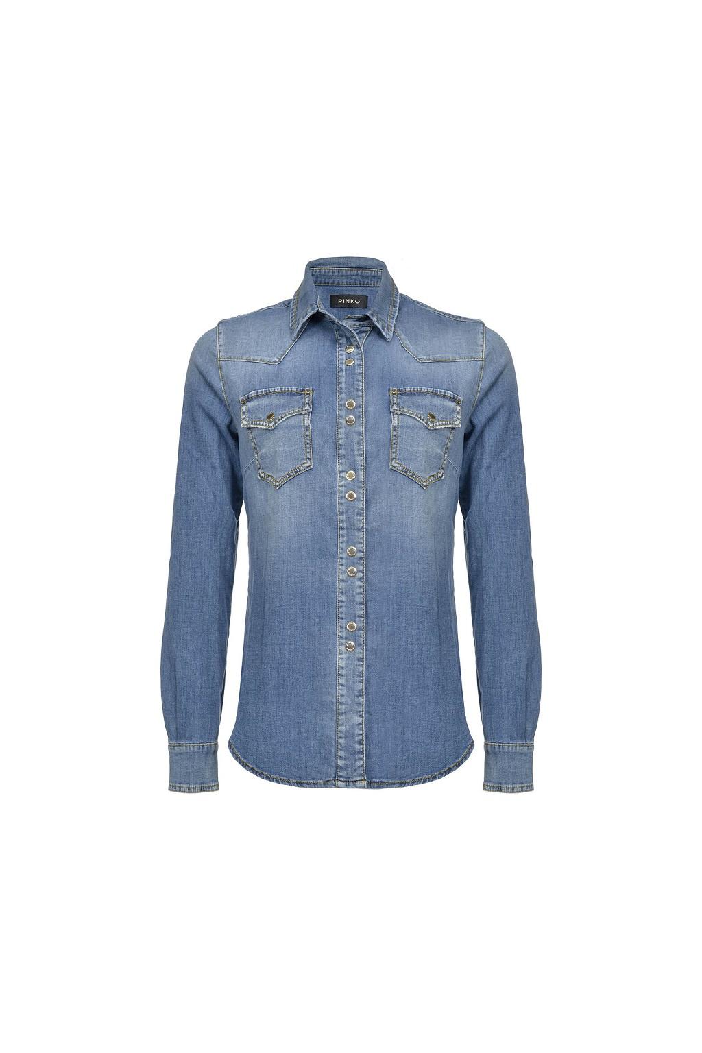 Dámská riflová košile Caroline 13 PJ238 modrá