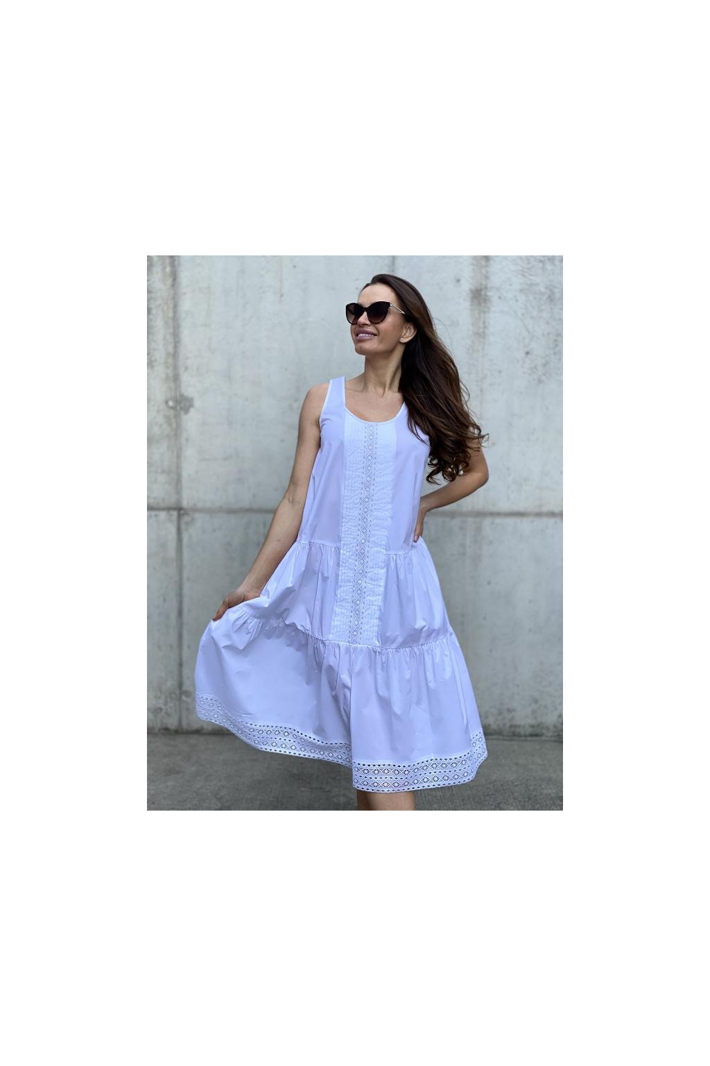 Dámské šaty Twinset 211TT2461 bílé