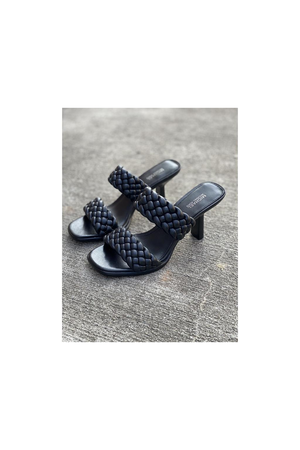 Dámské sandály Michael Kors Amelia Mule Nappa Faux Leather černé