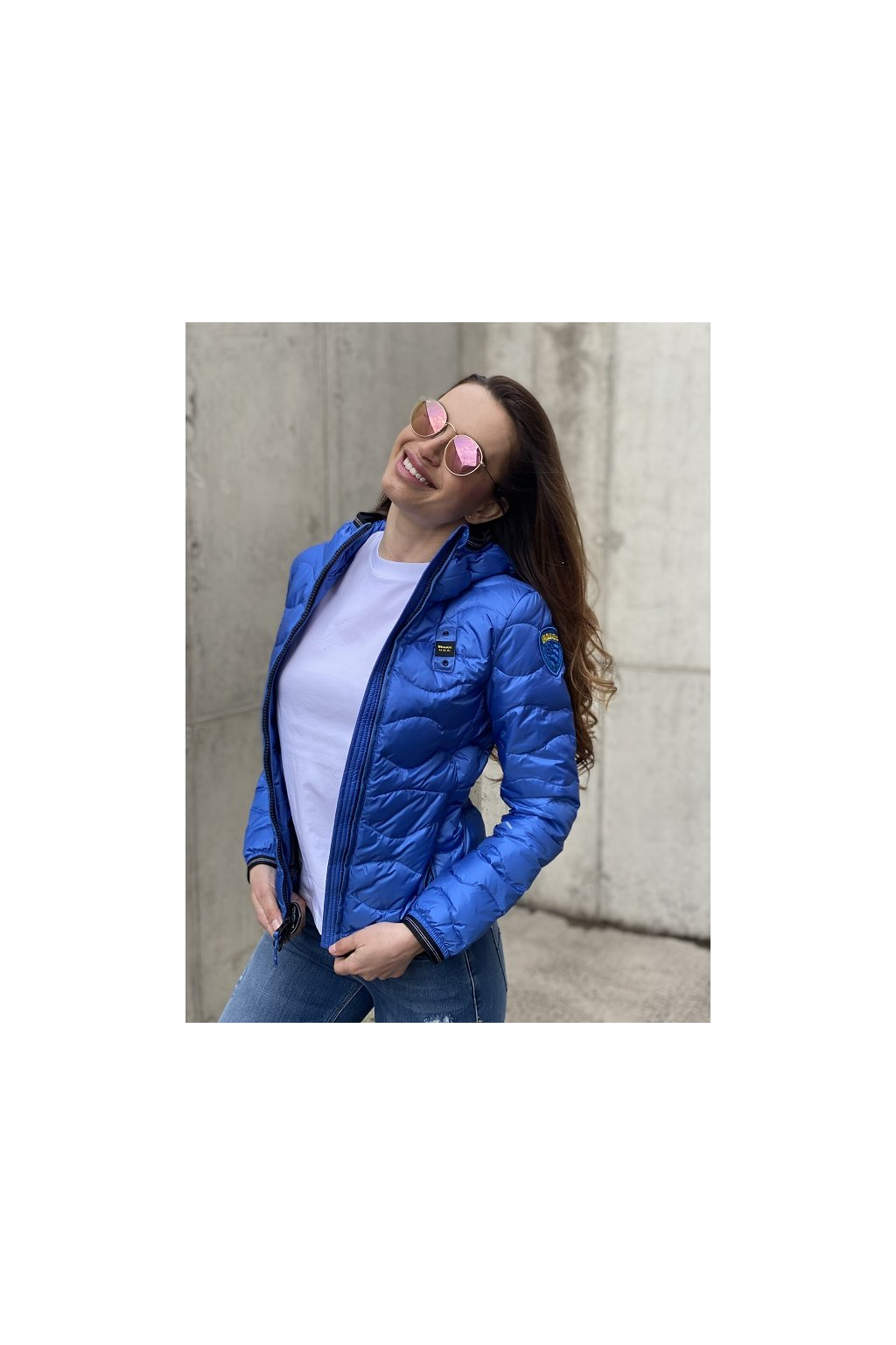 Dámská bunda Blauer 21SBLDC03027 modrá