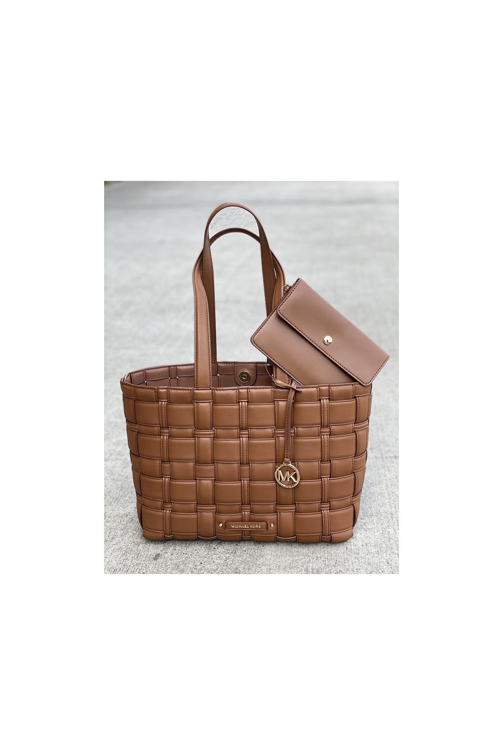 Dámská kabelka Michael Kors Ivy Medium Tote Bag 30S1G2IT2U hnědá 4