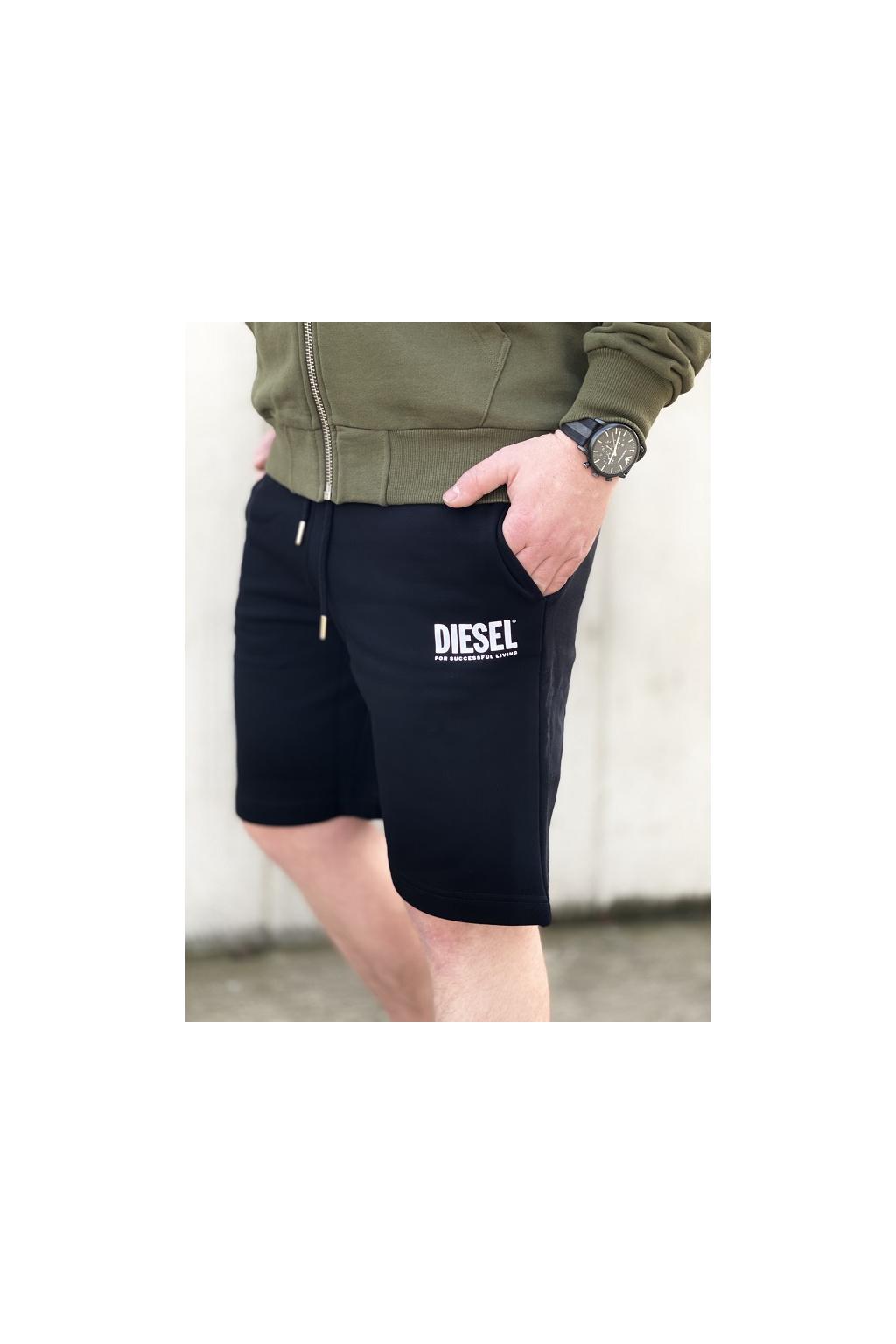 Pánské šortky Diesel P Crown Logo černé