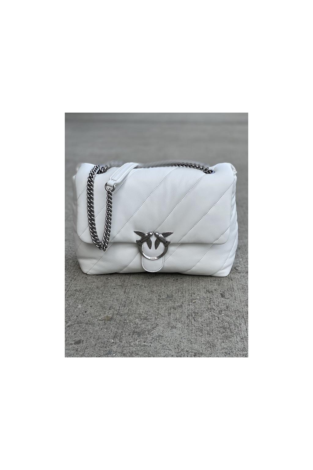 Dámská kabelka Pinko Love Big Puff Maxi Quilt 3 Cl bílá