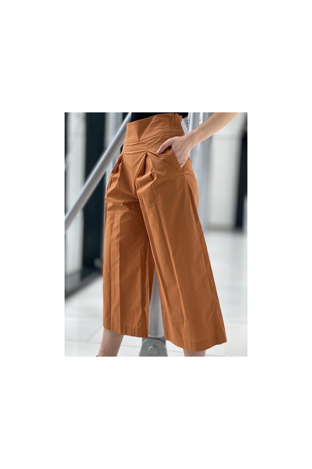 Dámská kalhoty Pinko Teso 4 hnědé