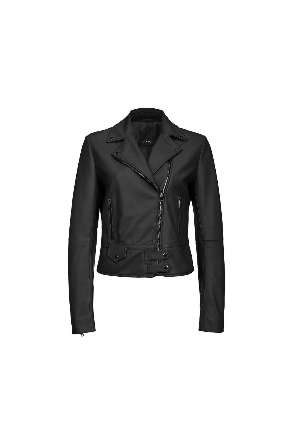 Dámská kožená bunda Pinko Sensibile 11 černá