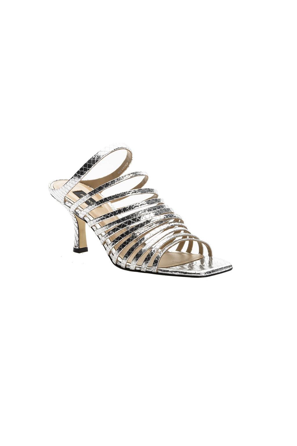 Dámské kožené sandály Pinko Calathea 1 stříbrné