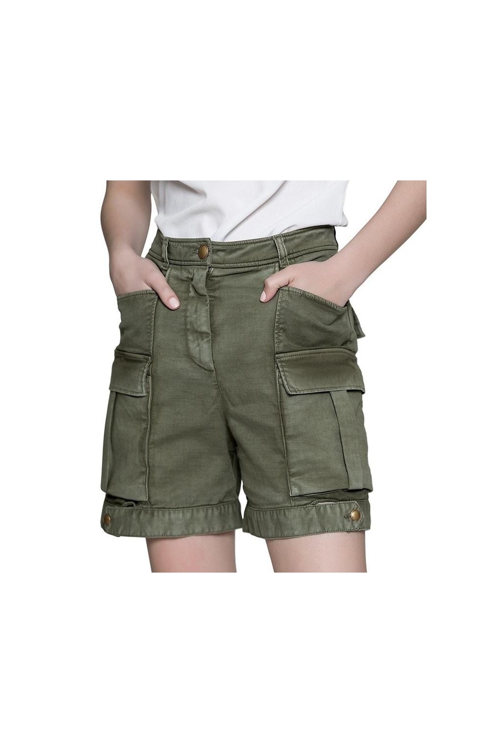 Dámské kalhoty Pinko Purificato khaki 0
