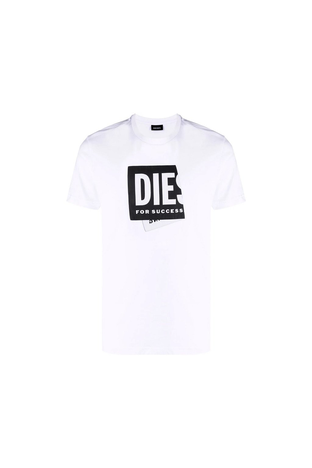 Pánské tričko Diesel T Diegos Lab bílé