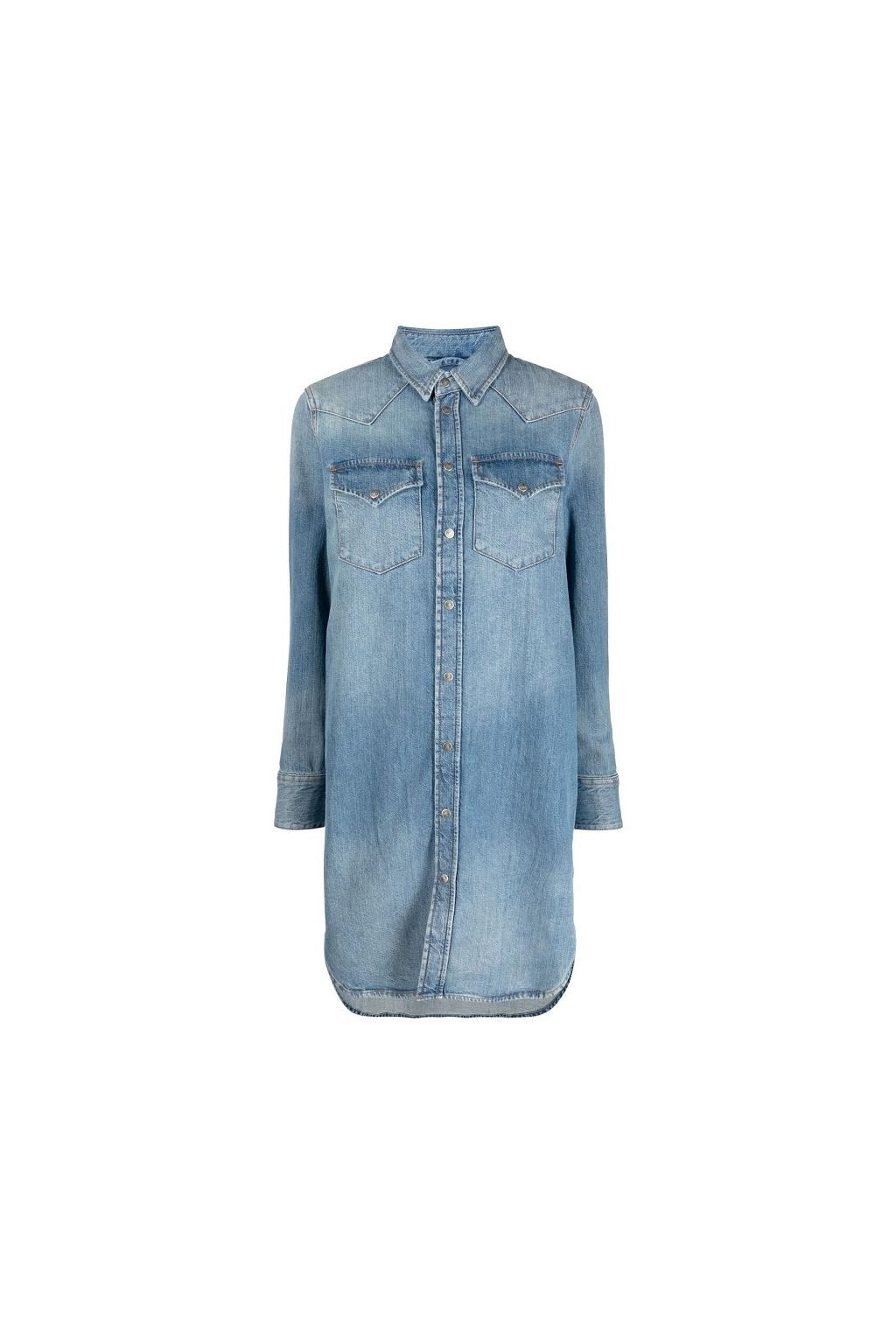 Dámské šaty Diesel De Blanche modré