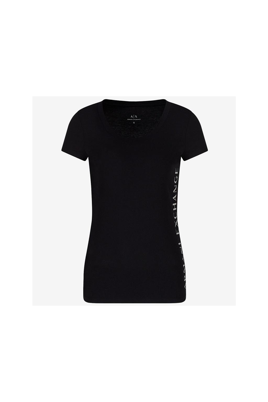 Dámské tričko Armani Exchange 3KYTGU YJW1Z černé