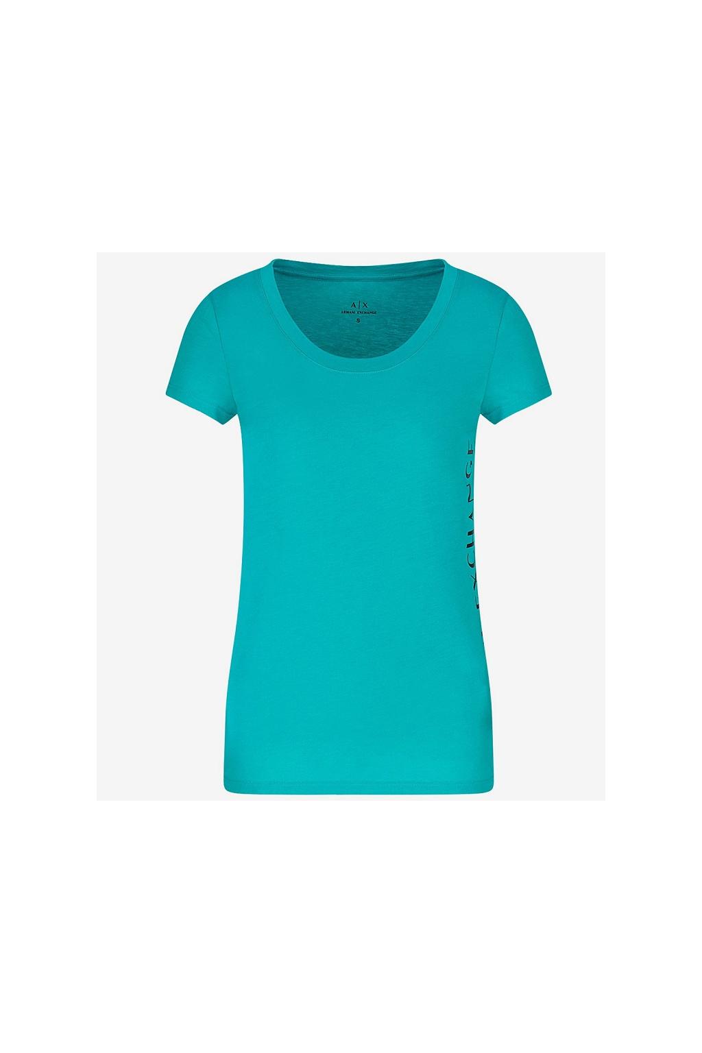 Dámské tričko Armani Exchange 3KYTGU YJW1Z zelené