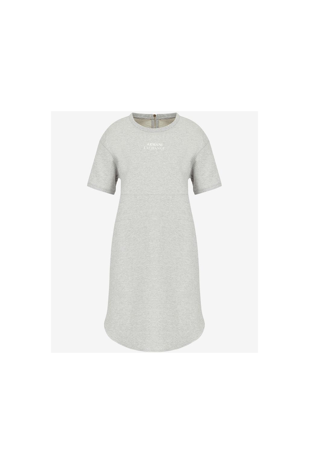 Dámské šaty Armani Exchange 3KYA79 YJ7EZ šedé
