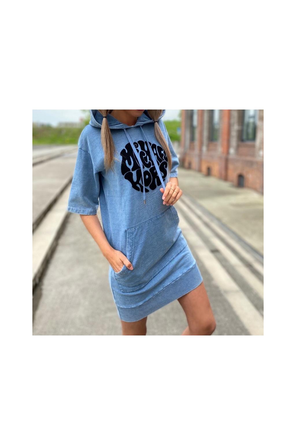 Dámské šaty Michael Kors MU180MPD8L modré