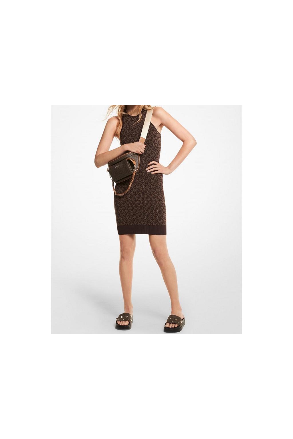 Dámské šaty Michael Kors MU1807G2RW hnědé