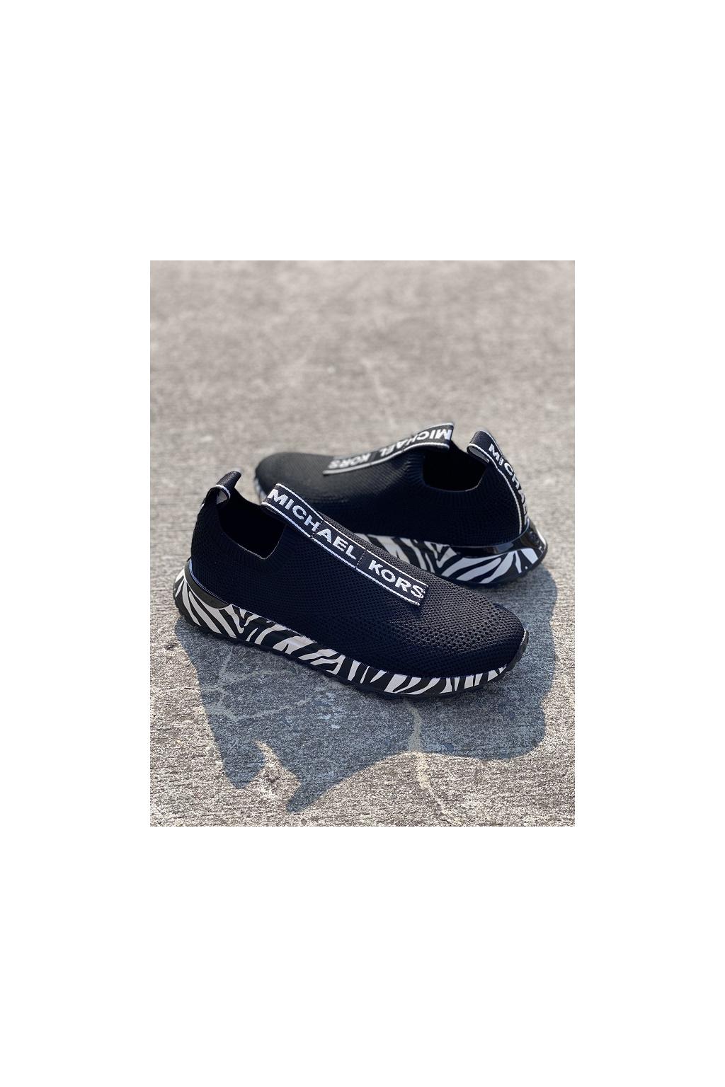 Dámské tenisky Michael Kors Bodie Logo 43T1BDFP3D černobílé 00