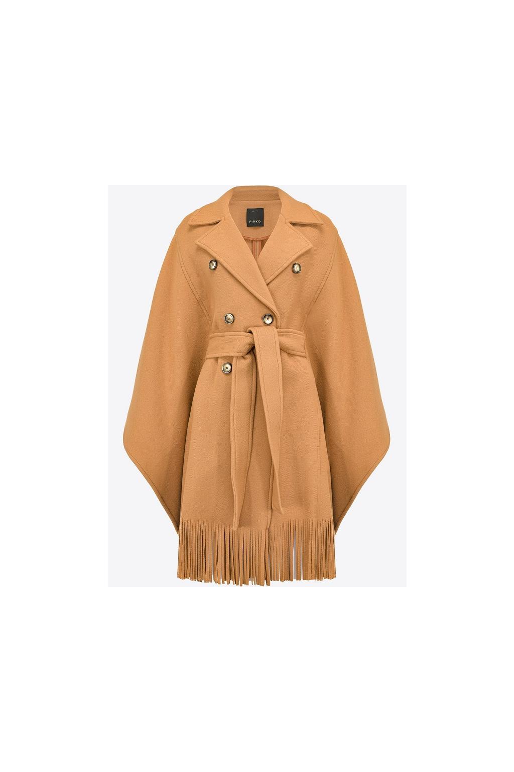 Dámský kabát Pinko Puerta hnědý