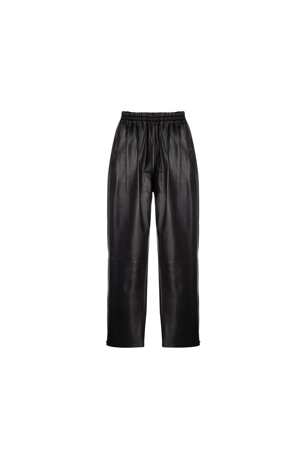 Dámské kožené kalhoty Pinko Toast 4 černé